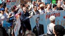 Французские демонстранты требуют отставки президента