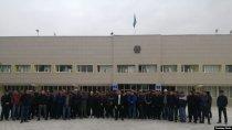 В преддверии визита Токаева в Жанаозене прошел митинг протеста рабочих