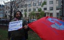 Пикет перед посольством Казахстана в Москве: Руки прочь от рабочих активистов!